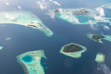 Above views for Luxury Resort in Maldives Banco de Imagens