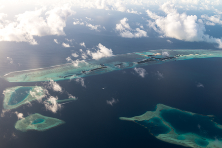 Above views for Luxury Resort in Maldives 写真素材 - 122497443