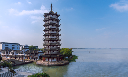 Yunhai Tower in Zhouzhuang Ancient Town Banco de Imagens - 114329571
