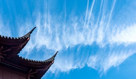The sky of Nanjing Confucius Temple Фото со стока - 114894999