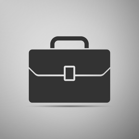 business case: Business case icon. Vector illustration