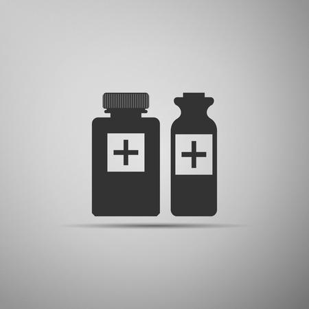 medical bottles: Medical bottles icon. Vector illustration