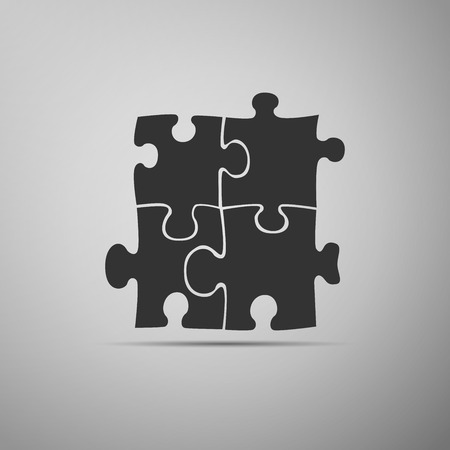 contrasts: Puzzles icon. Vector Illustration.