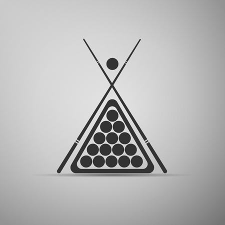 cue sticks: Billiard cue and balls icon. Vector Illustration. Illustration