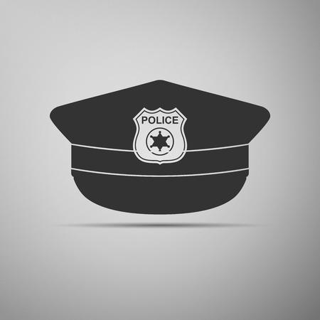 gorra polic�a: La polic�a capsula icono. ilustraci�n vectorial Vectores