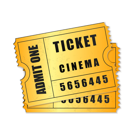 admit: Vector Admit One ticket icon isolated Illustration