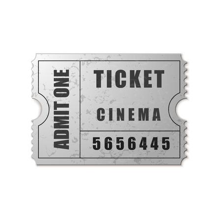 admit: Vector Admit One ticket icon isolated Illustration
