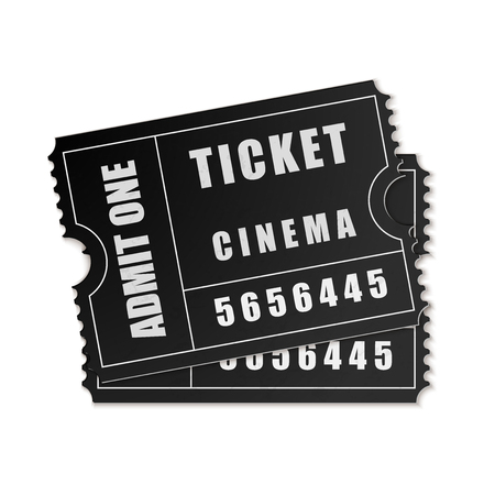 admit one: Vector Admit One ticket icon isolated Illustration