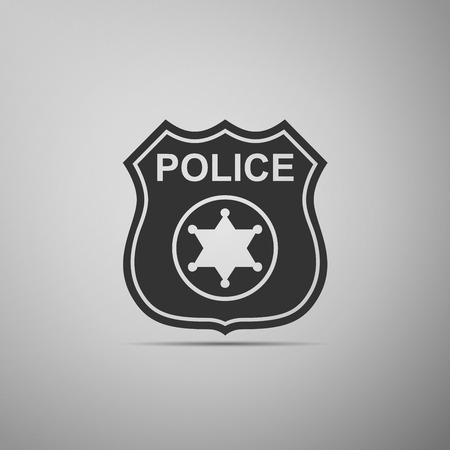Police badges icon. Vector illustration