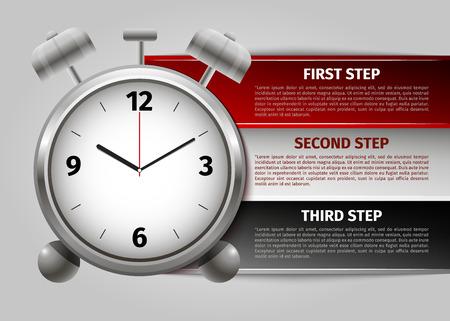 agenda: time management infographics. Vector Illustration. Illustration