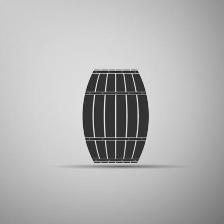 Wooden barrel. Vector Illustration.