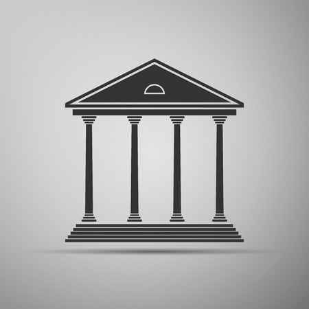 courthouse: Courthouse icon. Vector illustration Illustration