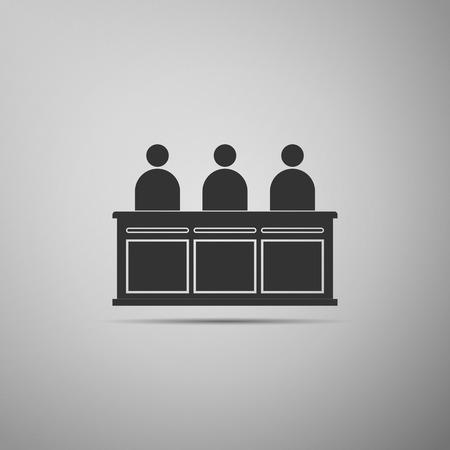 jurors: Jurors icon. Vector illustration Illustration