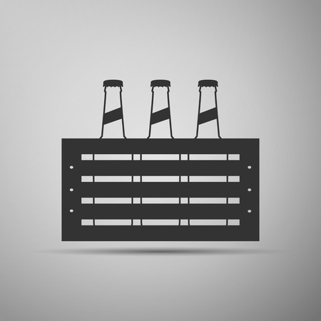 cold pack: Pack of Beer icon. Vector Illustration Illustration