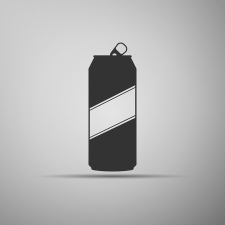 aluminum: Aluminum can icon. Vector Illustration