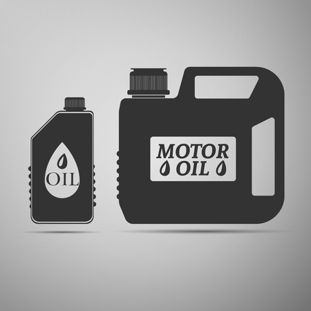 lubricant: Blank plastic canister for motor oil icon. Vector Illustration Illustration