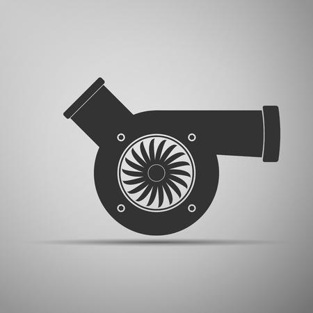 mecanico automotriz: turbocompresor icono de la automoción. Ilustración del vector