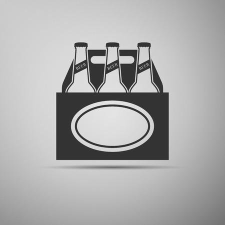 Pack icône de bière. Vector Illustration