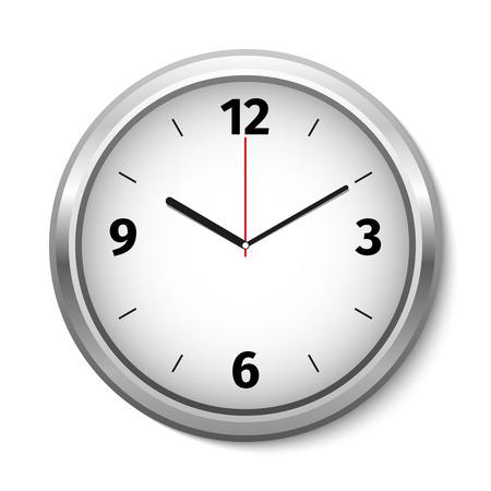 orologio da parete: Vector Clock Icon. Illustrazione vettoriale