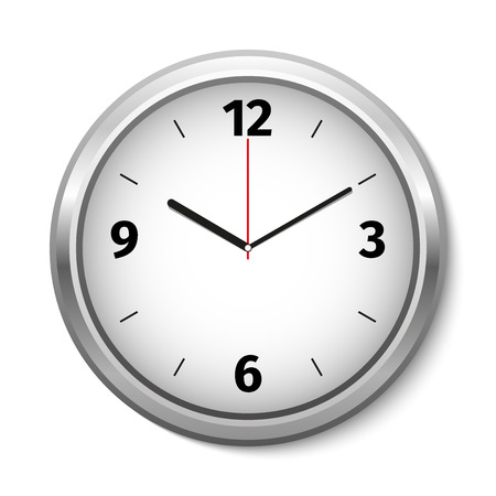 round the clock: Vector Clock Icon. Vector illustration Illustration