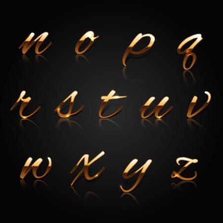 황금 문자 컬렉션입니다. 벡터 일러스트 레이 션. 일러스트