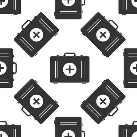 first aid box: First aid box icon pattern Illustration