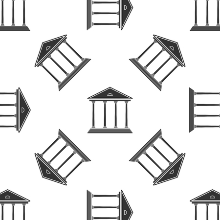 courthouse: Courthouse Icon pattern Illustration