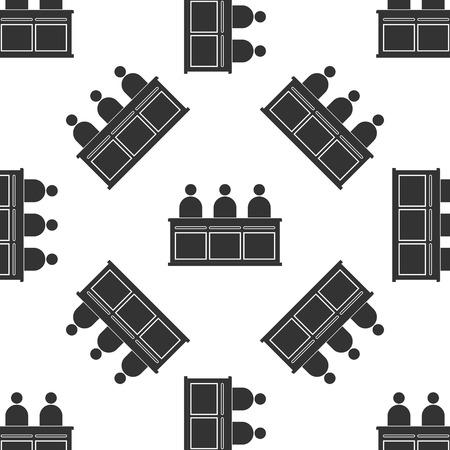 jurors: Jurors Icon pattern Illustration