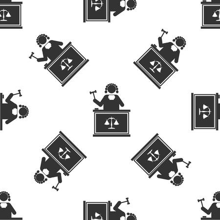 judge: Judge With Gavel Icon pattern