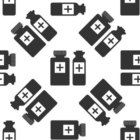 medical bottles: Medical bottles icon pattern