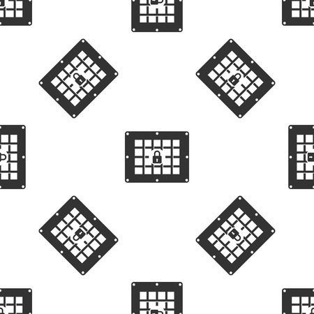wall cell: Prison window Icon pattern