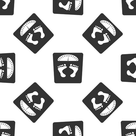 huellas: báscula de baño con el patrón de huellas icono