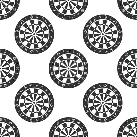 sectors: Classic Darts Board with Twenty Black and White Sectors icon pattern