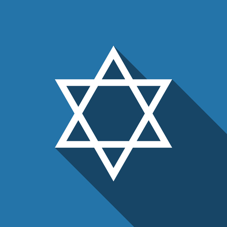 israelite: Star of David icon with long shadow