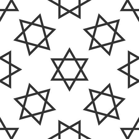 magen: Star of David icon pattern on white background. Adobe illustrator Stock Photo