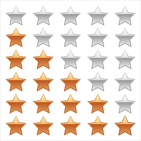 Ratings Stars on white background. Adobe illustrator