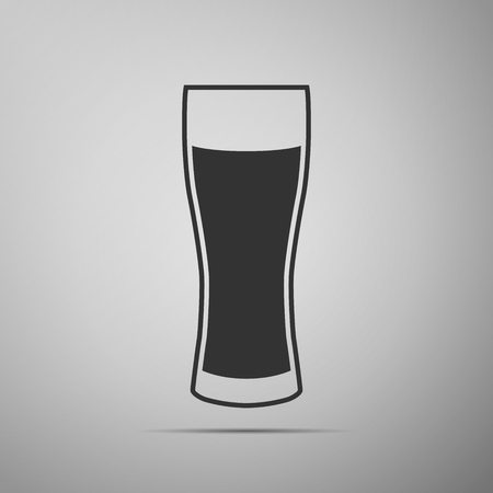 adobe: Glass of beer flat icon on grey background. Adobe illustrator