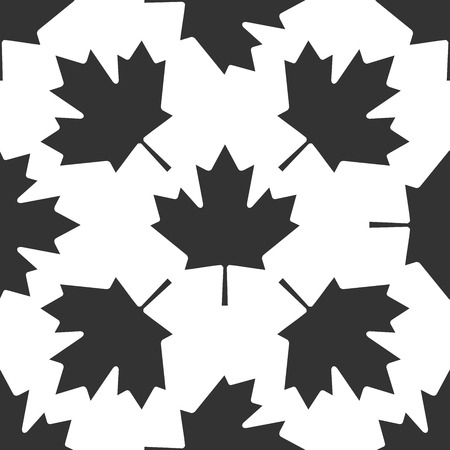 canadian maple leaf: Canadian Maple Leaf icon pattern on white background. Vector Illustration