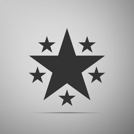 icon isolated on grey background. Flat design. Vector Illustration Illustration