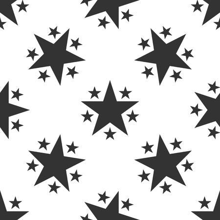 Star icon seamless pattern on white background. Favorite, Best Rating, Award symbol. Flat design. Vector Illustration 版權商用圖片