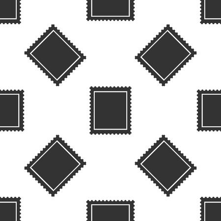 Postal stamp icon seamless pattern on white background. Flat design. Vector Illustration 矢量图像