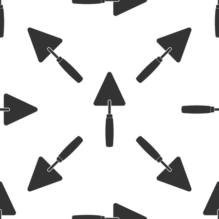 Trowel icon seamless pattern on white background. Illustration