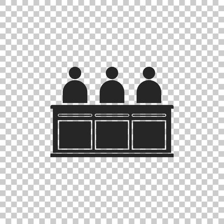 Jurors icon isolated on transparent background. Flat design. Vector Illustration Illusztráció