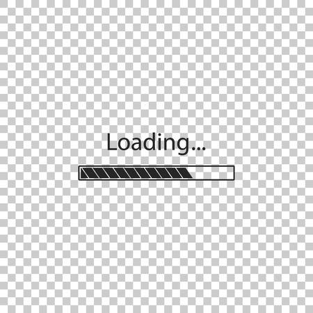 Loading icon isolated on transparent background. Progress bar icon. Flat design. Vector Illustration