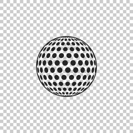 Golf-Symbol auf transparentem Hintergrund isoliert. Flaches Design. Vektorillustration