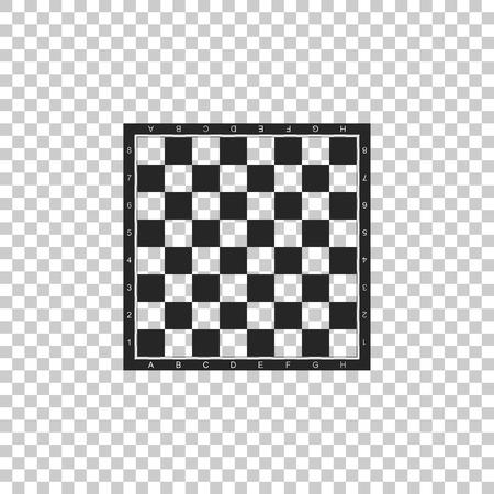 Schachbrett-Symbol auf transparentem Hintergrund isoliert. Antikes intellektuelles Brettspiel. Flaches Design. Vektorillustration