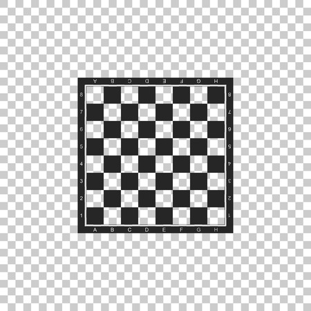 Chess board icon isolated on transparent background. Ancient Intellectual board game. Flat design. Vector Illustration