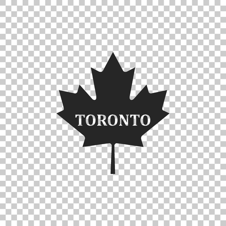 Canadian maple leaf with city name Toronto icon isolated on transparent background. Flat design. Vector Illustration 向量圖像
