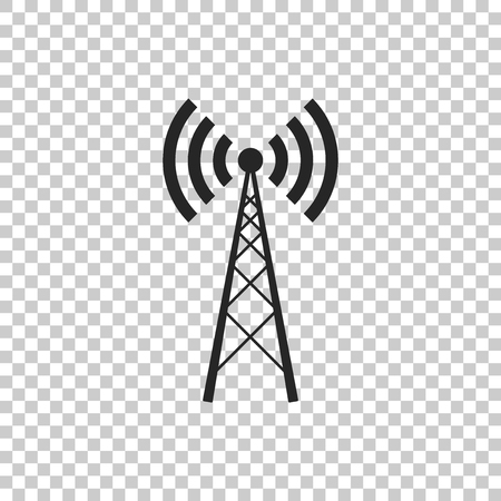 Antenna icon isolated on transparent background. Radio antenna wireless. Technology and network signal radio antenna. Flat design. Vector Illustration Illusztráció