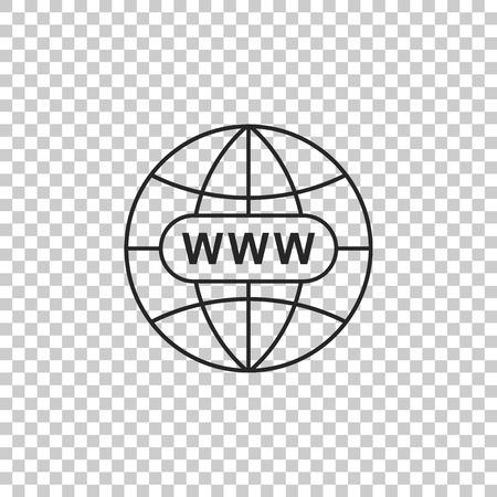 Go To Web icon isolated on transparent background. Www icon. Website pictogram. World wide web symbol. Internet symbol for your web site design, app, UI. Flat design. Vector Illustration Vector Illustration